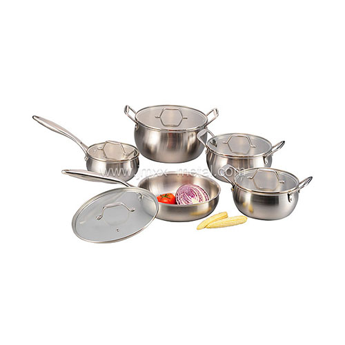 Tri-ply 10 Pcs Cookware Set