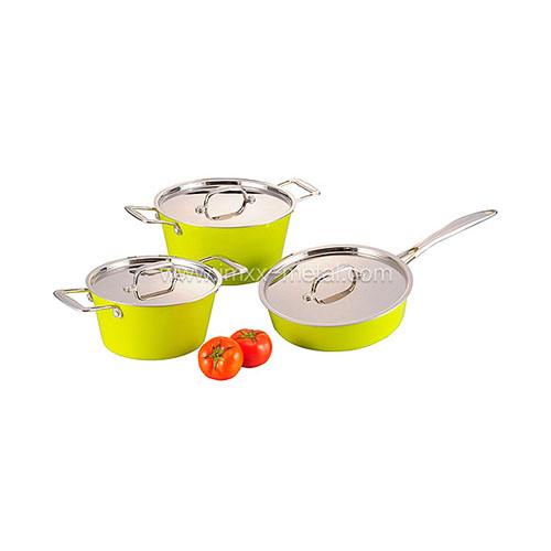 Tri-ply 6 Pcs Cookware Set