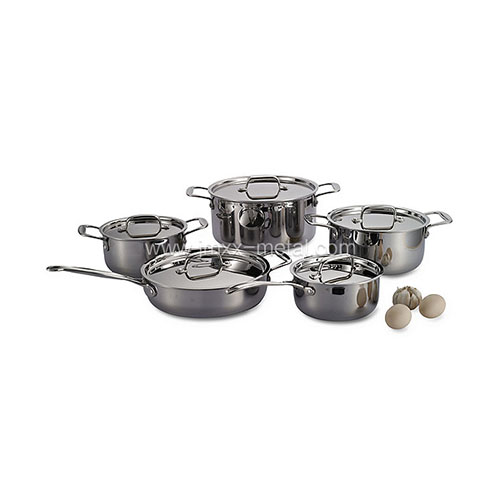 10 Pcs Tri-ply Cookware Set
