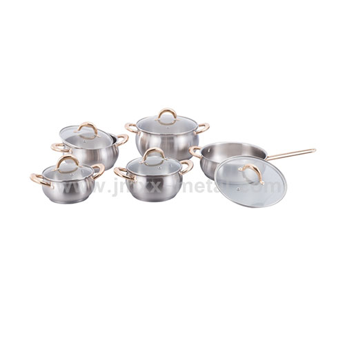 10Pcs Staineless Steel Apple Shape Cookware Set