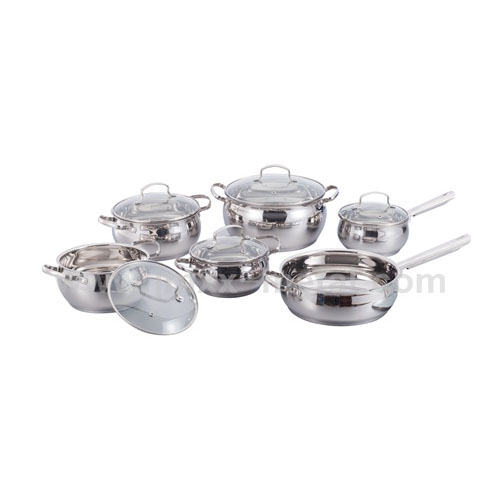 12Pcs Staineless Steel Apple Shape Cookware Set